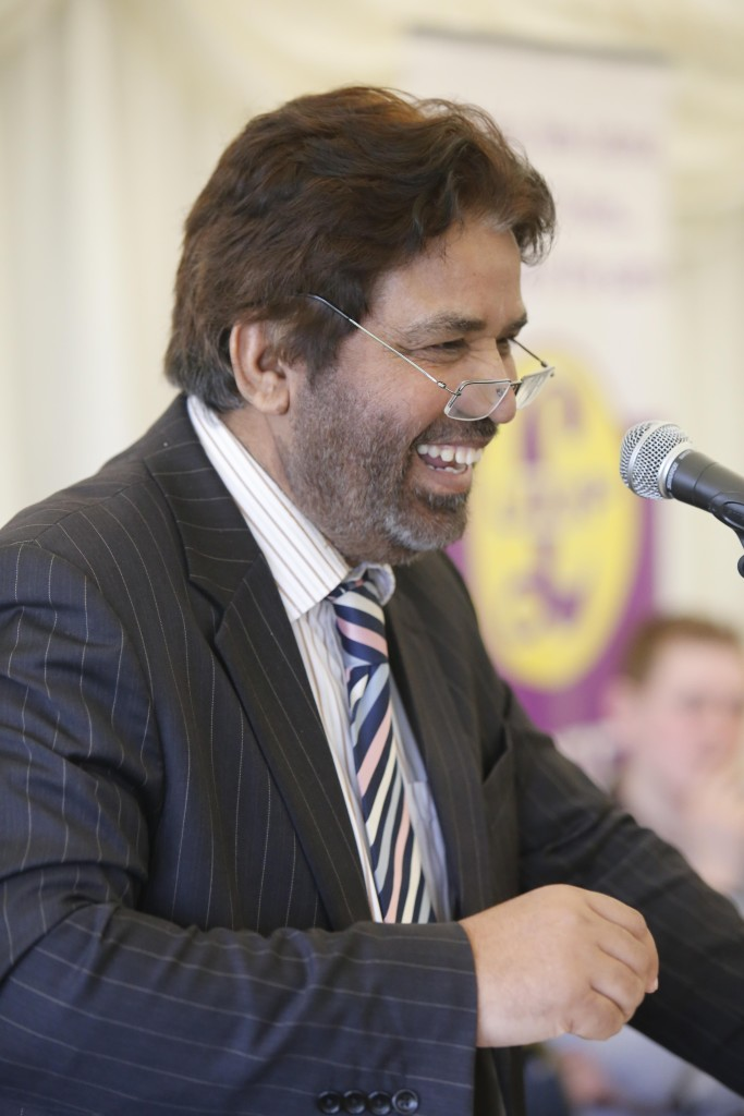 Picture shows leading party member UKIP Gloucester Harjit Gill.