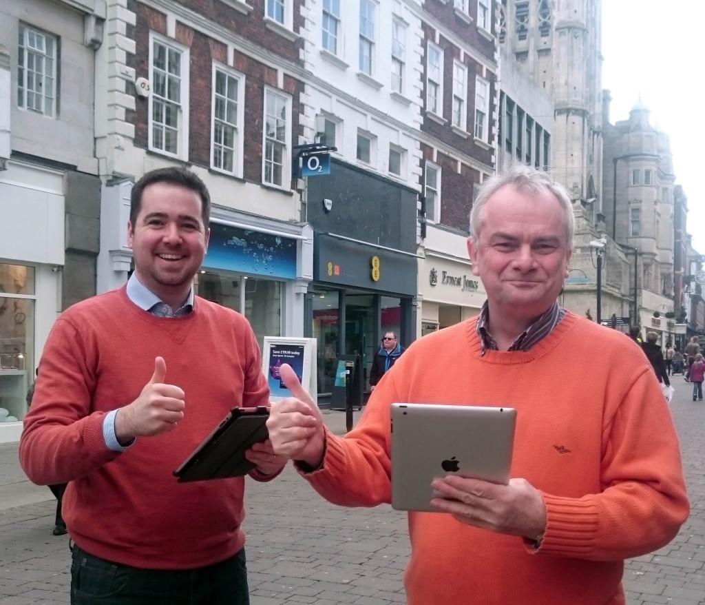 Sebastian Fild & Jeremy Hilton celebrate city centre wifi