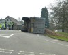 TRAVEL: Tractor trailer overturns on Speech House Road in Forest of Dean