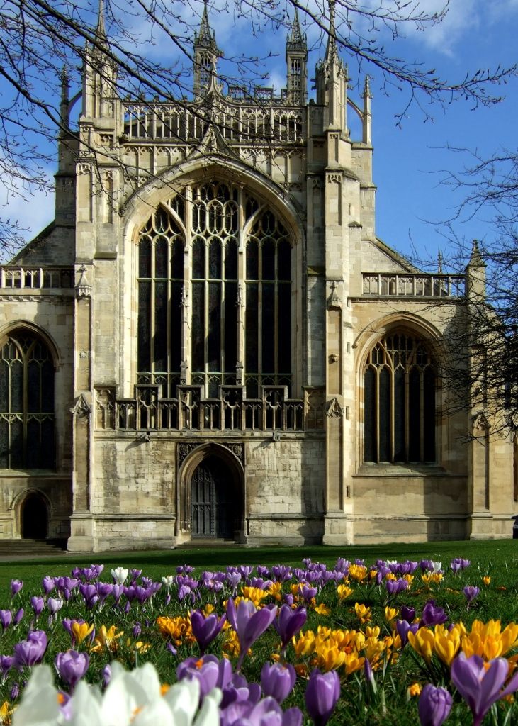 Gloucester Cathedral Spring flowers