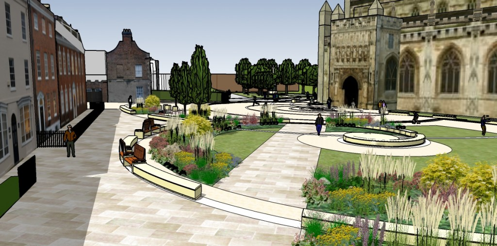New Cathedral Green 3-D