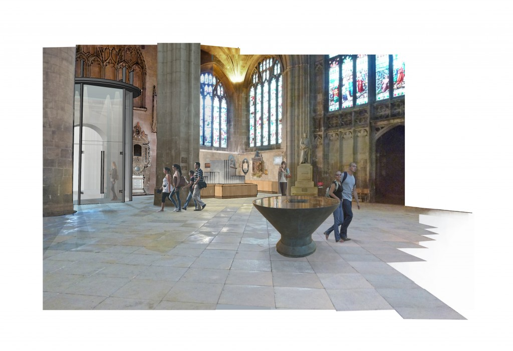 New Cathedral welcome area and entrance