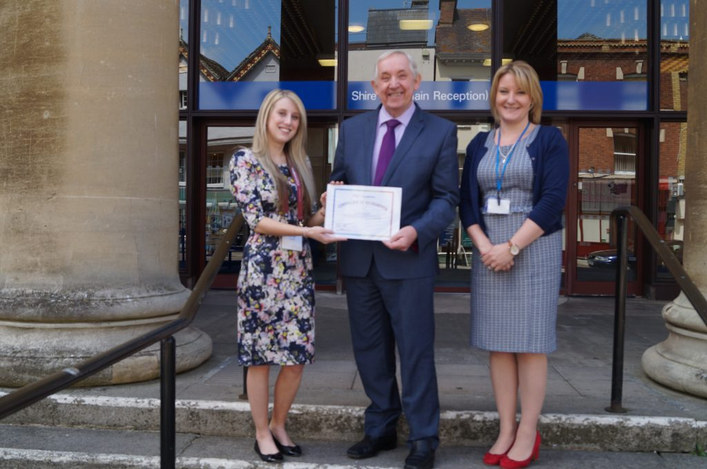 L-R Emily Toomer - ASIST Trainer, Cllr Andrew Gravells - Cabinet member for public health at GCC and Sarah Scott - Director of Public Heal