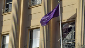 Cheltenham flies the Purple Flag