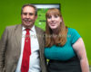 Nailsworth Gloucestershire. David Drew Strouds  perspective mp and Shadow education secretary Angela Rayner attend a Labour Rally at Forest Green Rovers football ground. Supported by 1000 people...