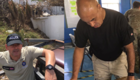 Gloucestershire police officers assist with aftermath of Hurricane Irma