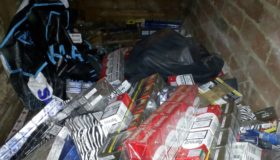 Sparks fly as hidden illegal stash is discovered