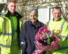 Biffa 'heroes' reunited with Dymock resident helped in the snow