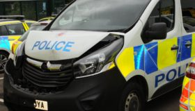 Police officers injured by masked theives